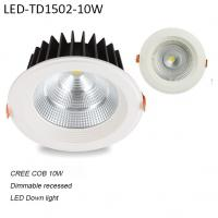 Best 10W white indoor Round recessed COB dimmable LED downlight for hotel wholesale