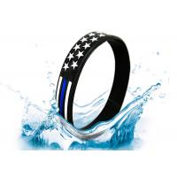 Best Colorful FDA silicone bracelet with American flag on it  Suitable for many kinds of people wholesale