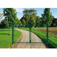 Best PVC Coated Welded Wire Fence Galvanised Square Mesh Fencing Green Color wholesale
