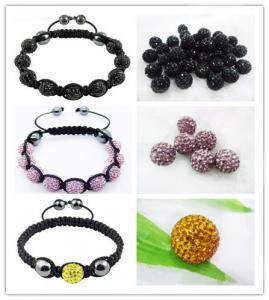 Cheap Personalized Handmade Shambhala Jewellery Colorful Crystal Shamballa Beaded for sale