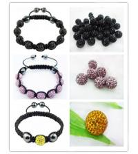 Cheap Personalized Handmade Shambhala Jewellery Colorful Crystal Shamballa Beaded Bracelets for sale
