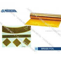 China C26800 Copper - Zinc Alloys Brass Foil Roll Sheet for Connectors , Radiators on sale