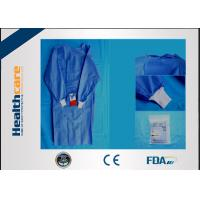 Buy cheap SMS Sterile Disposable Surgical Gowns , Disposable Theatre Gowns Anti - Blood S-3XL from wholesalers