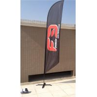 Double / Single Side Printing Outdoor Advertising Sail Banners 100% 110g Polyester