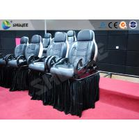 Cheap Luxury Mobile Motion Theater Chair 5D / 7D / 9D With Air And Water Spray for sale