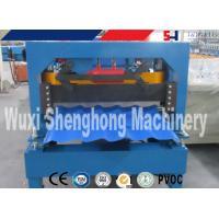Best Blue Automatic Roof Tile Roll Forming Machine Anti Rust Roller wholesale