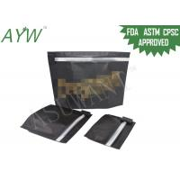 Buy cheap Black Laminated Material Child resistant  Ziplock Bags For cannabis Packaging from wholesalers