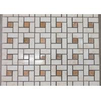 Best Spain Crema Marfil Marble Mosaic Tile For Wall Decoration Beige Color 305*305mm wholesale
