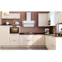 Quality Jane White Wood Kitchen Cabinets Marble Surface Aluminum Alloy ...