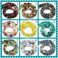 Best Facted Round Natural Fire Agate Beads Strands, Semi Precious Gem Beads Jewellery wholesale