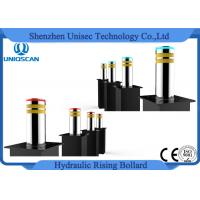 China Anti Terrorist Hydraulic Rising Bollards With LED Lighted , Electric Bollards For Driveways on sale