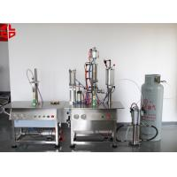 Best Bag On Valve Aerosol Filling and Crimping Machine Semi Automatic High Speed wholesale
