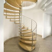 Best Modern Design Indoor Stairs Stainless Steel Railing Glass Spiral Staircase wholesale