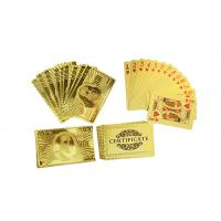 Best Engrave Gold Plated Playing Cards wholesale