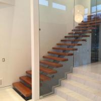 Cheap Australia Design Mono Stringer Staircase Beautiful Straight Custom Size Staircase with Colorable Tread for sale