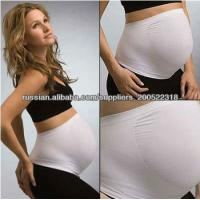 Best Anti-Radiation Seamless Maternity Belly Bands White / Black With Nylon wholesale