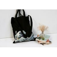 Best 100% Canvas Reusable Black Tote Bags - 12oz. Thick Material Canvas Shopping Bags wholesale