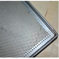 Best Metal Perforated Baking Serving Tray For Oven , Stainless Steel Food Tray wholesale