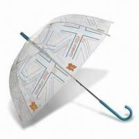 Best London 2012 Union Flag Clear Dome Umbrella, Made of Recycled Polyester wholesale