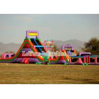 Best Elaborate Full Set Inflatable Obstacle Course With CE / UL Air Blower wholesale