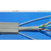China Flat Flexible Traveling Elevator Cable with TV Camera Cable in Grey Color TVVBG-STP CAT5E on sale