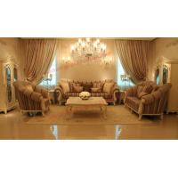 Best High End Romantic Sofa set made by Solid Wooden Frame with Leather and Fabric Cushion wholesale