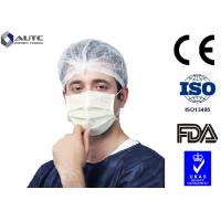 Best 3 Ply Blu Medical Face Mask Prevent Dust Blue White For Cough Germs Illness wholesale