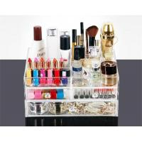 Best 3 Drawer Storage Box Acrylic Transparent Make up Case Organiser Cosmetic Display wholesale