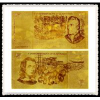 Old 50$ AUD Bill Pure Gold Banknote