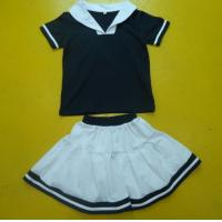Best Navy And White Boy And Girl Matching Outfits With Polo Shirt Skirt Pant Customized Size wholesale