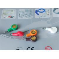Cheap Snap Electrode Ecg Accessories Holter Cable 5 Leads For Patient Use for sale