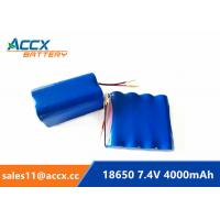 Best 7.4V 4000mAh 2S2P 18650 battery pack for printer, remote control car grade A quality wholesale