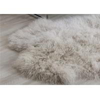 Best Mongolian Sheepskin Rug Oversized Home Accessories Tan Color Real Animal Fur wholesale