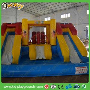 China Huge PVC Tarpaulin Inflatable Slide , Big Water Park Slides For Rent on sale