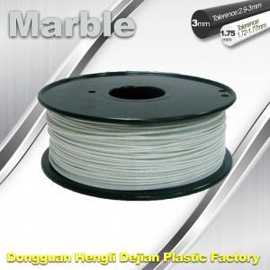Best Marble 3D High Strength Printer Filament 3mm / 1.75mm , Print temperature 200°C - 230°C wholesale