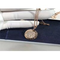 Best Luxury 18K Gold Diamond Necklace , Personalized High End Fashion Jewelry wholesale