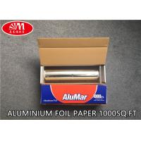 Best Catering Aluminium Foil Roll  Aluminum Foil Paper 12In X 11 Micron X 1000Ft With Metal Cutting Good Pack wholesale