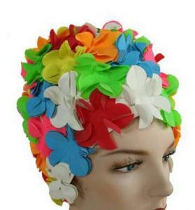 Cheap Original Flower Swim Cap- Old Fashioned Retro Petal Cap - Multi Color for sale