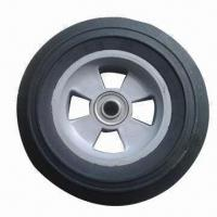 Best 8/10-inch Solid Rubber Wheel for Hand Trolley, Tool Cart, Machines wholesale