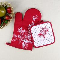 Best Christmas Theme Highly Recommend Kitchen Cooking Pot Holder and Oven Mitten Glove wholesale