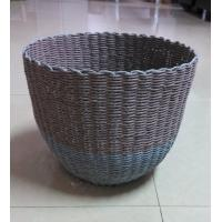 Best 100% handwoven Paper material   storage basket with round shape,artistic basket wholesale