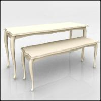 Best White Nesting Display Tables Fashion Style1200 * 600 * 800MM  For Clothing Shop wholesale