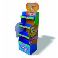 Best Advertising Four Tiers Cardboard Floor Display Stand For Business Retail wholesale