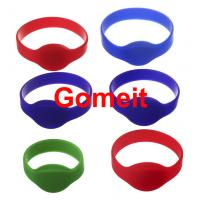 Best 13.56 Mhz Rfid Silicone Wristband Waterproof , Programmable Smart Access Control Wristbands wholesale