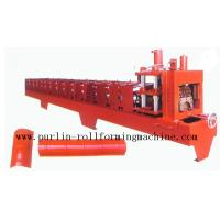 Best Color Steel Roof Ridge Cap Roll Forming Machine For Theatre / Garden Roofing wholesale