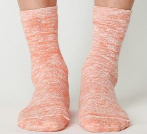 Best Organic Cotton Socks With Mix Colors , Women / Girls / Ladies Crew Socks / Knitted Socks wholesale