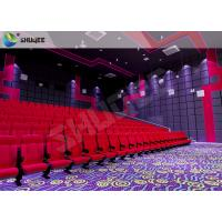 Best 3D Movie Theater Seats Sound Vibration Red Movie Theater Chairs For Amusement wholesale