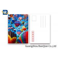 Best Coloful Hot Air Balloon 3D Lenticular Postcards PET / PP Similar To Holograms wholesale
