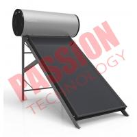 Best Silver Fluorocarbon Type Flat Plate Solar Water Heater 150 Liter Black Chrome wholesale
