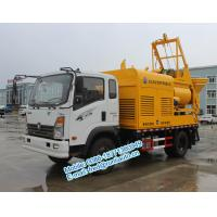 Buy cheap Q345 agitating vane yellow color Sinotruck CDW 4X2 25m3/hour multifunction from wholesalers